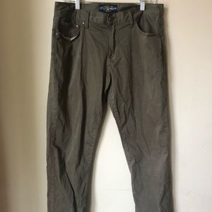 Men's lucky brand olive green jeans